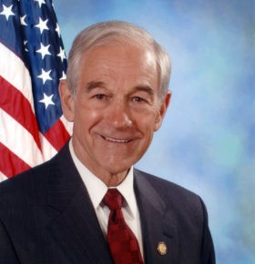 Political Speaker Ron Paul