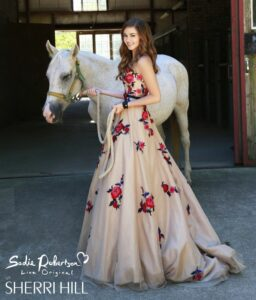 Sadie Robertson x Sherri Hill Prom Dress