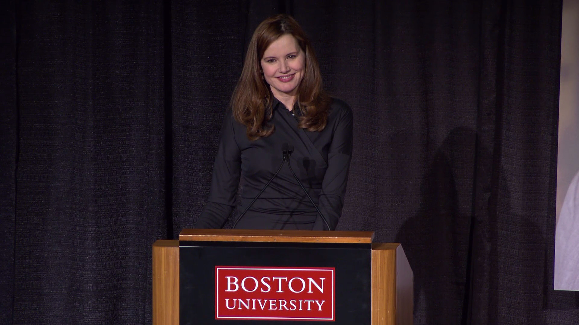 Geena Davis at Boston University
