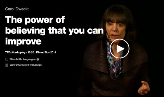 Carol Dweck TED Talk