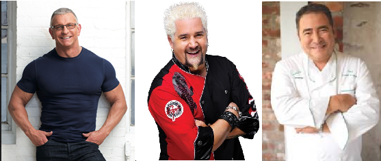 celebrity chefs for hire, hire guy fieri, hire robert irvine, robert irvine for hire, celebrity chefs for hire